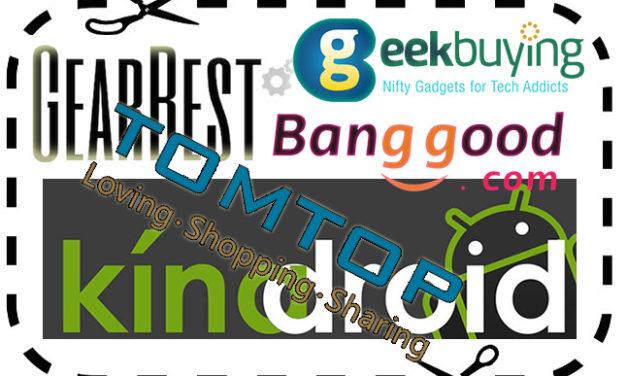 GearBest, Geekbuying, Banggood, TomTop kuponkódok (2019.03.04)