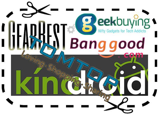 GearBest, Geekbuying, Banggood, TomTop kuponkódok (2019.03.25)