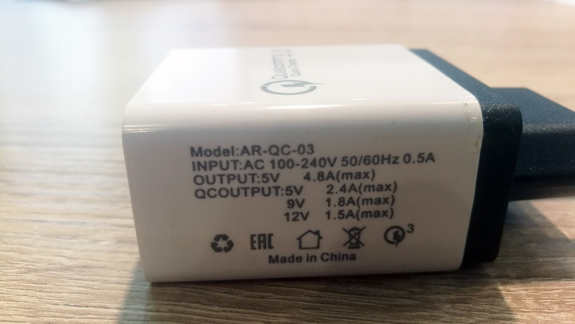 tomtop qc3 charger 3