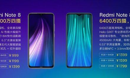 Bemutatkozott a Redmi Note 8 és a Redmi Note 8 Pro