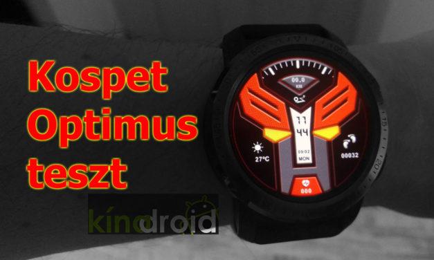 Kipróbáltuk: Kospet Optimus – órába transzformált okostelefon