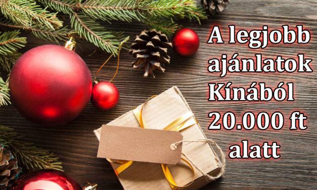 A 20 legjobb ajándékötlet Kínából 20.000 forint alatt