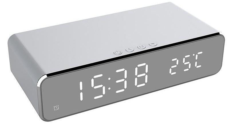 Ébresztőóra wireless töltő funkcióval