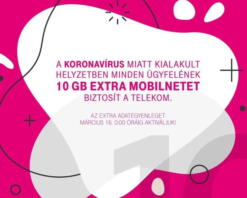 Ajándék extra net a Telekomtól mindenkinek!