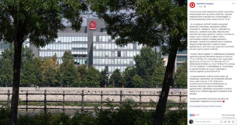A Vodafone is ingyen netet ad az ügyfeleinek