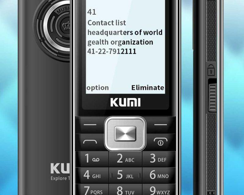 KUMI Mi1 – Butatelefon hőmérővel felvértezve