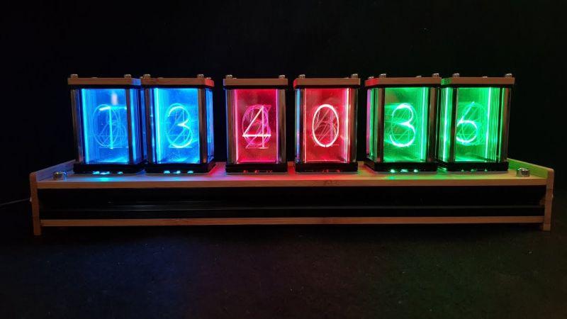 EleksMaker LED-es DIY retró óra – Brutálisan jól néz ki (EU raktár)