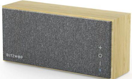BlitzWolf bambusz Bluetooth hangszóró – a minimalista stílus kedvelőinek